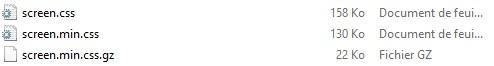 Exemple de compression GZIP pour CSS