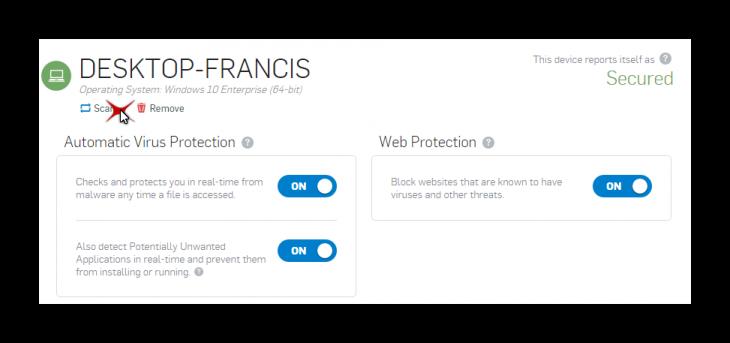 Mon poste sur l'interface web