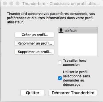 Firefox et thunderbird sauvegarde et restauration des for Fenetre hors ecran