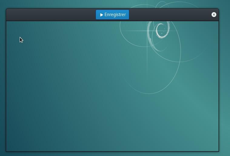 Fenêtre d'enregistrement de Peek pour réaliser un GIF sous Linux.