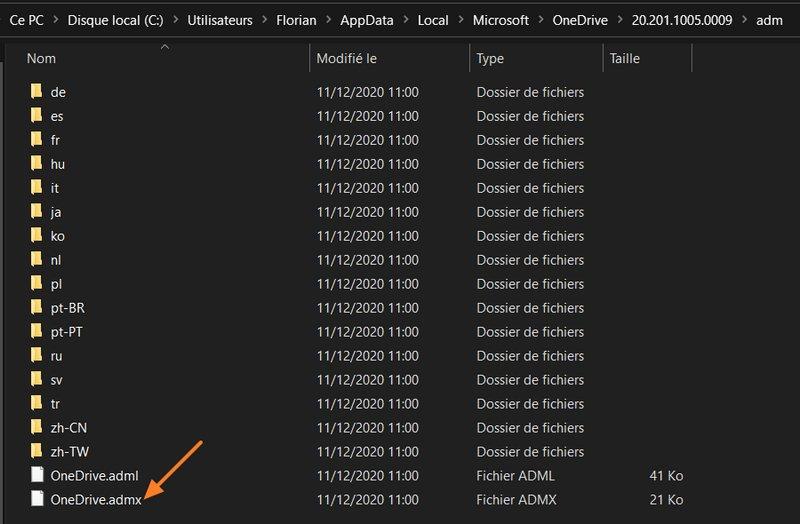 Configurer OneDrive par GPO
