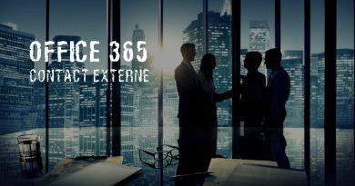 Office 365 : Comment ajouter un contact externe ?