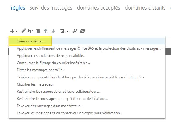 Office 365 exchange cr er une r gle de transfert d 39 e mails office 365 it connect - Creer un compte office 365 ...