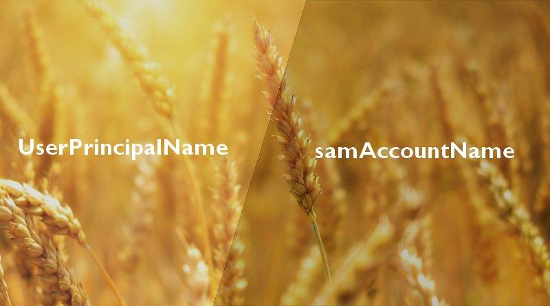 Active Directory : samAccountName VS UserPrincipalName