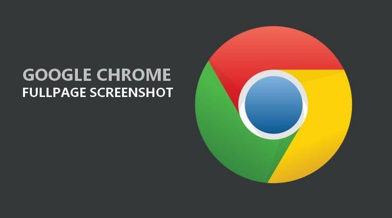 Réaliser une copie d'écran pleine page sous Chrome sans extension