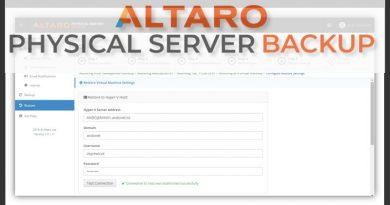 ALTARO Physical Server Backup : la sauvegarde de serveurs physiques