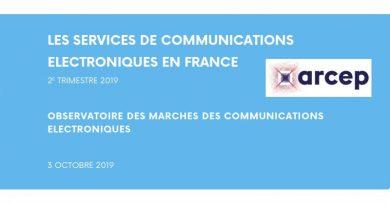 ARCEP : rapport sur le marché français des télécommunications