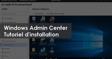 Comment installer Windows Admin Center ?