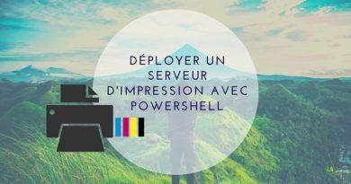 Comment installer un serveur d'impression avec Powershell ?