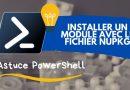 Installer un module PowerShell à partir d'un fichier NuPkg