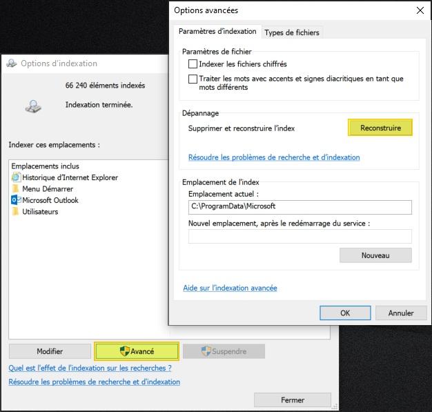 réduire la taille du fichier Windows.edb