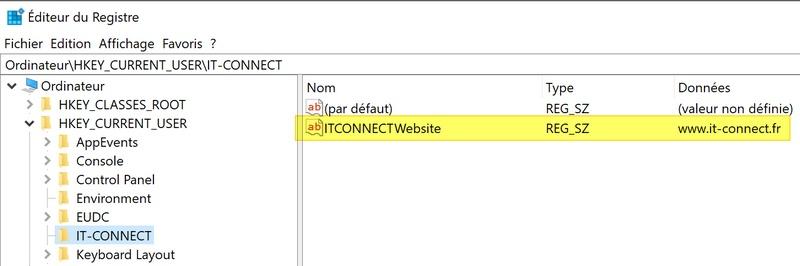 Modifier registre PowerShell