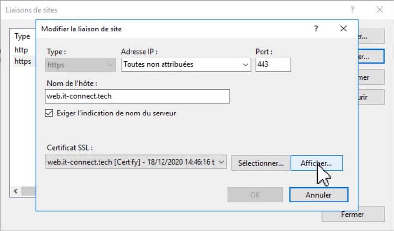 certificat Let's Encrypt sur IIS