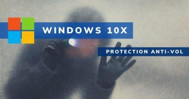 Windows 10X intègre une fonctionnalité de protection anti-vol
