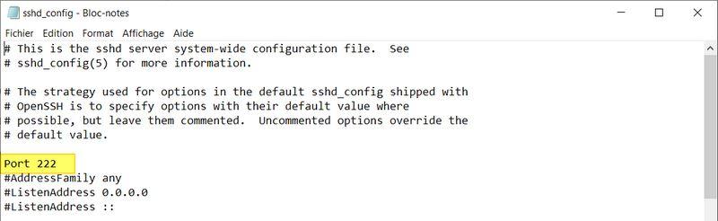 OpenSSH Server sur Windows - Configuration