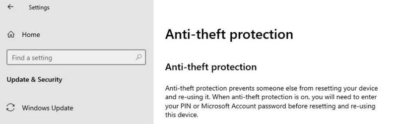 protection anti-vol