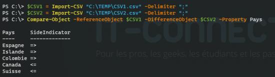 Compare-Object CSV