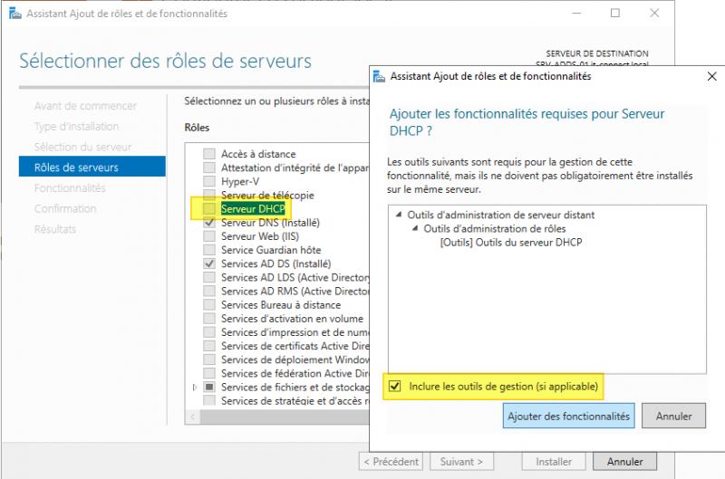 installer un serveur DHCP