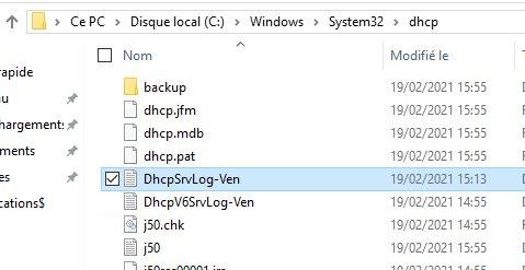 Logs DHCP Windows Server