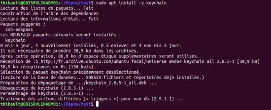 Linux keychain ssh