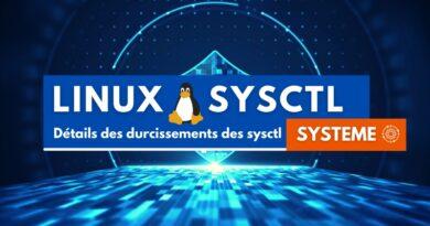 Détails des durcissements des sysctl sous Linux : sysctl système