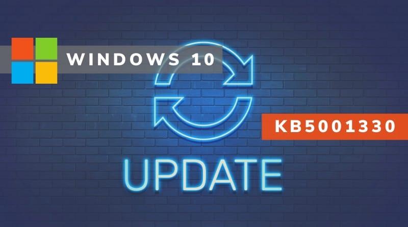 Windows 10 KB5001330 : cette mise à jour génère de nombreux bugs !