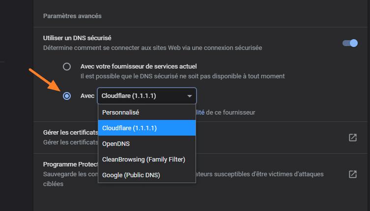 DNS over HTTPS Chrome