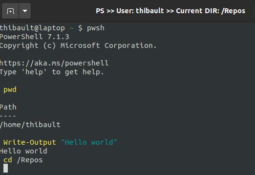 PowerShell : nom de la fenêtre égal au répertoire courant