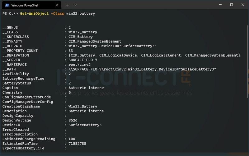 PowerShell - Win32_battery