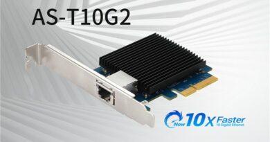 ASUSTOR dévoile l'AS-T10G2, sa nouvelle carte PCIe 10 Gigabit Ethernet