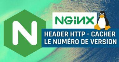 Header HTTP : comment cacher le numéro de version de Nginx ?