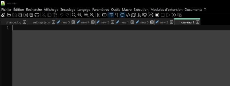 Nouveautés Notepad++ 8.0
