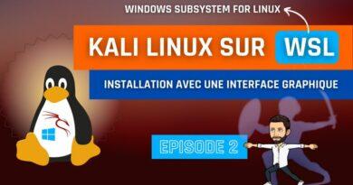 Installer Kali Linux (avec interface graphique) sur Windows 10 avec WSL