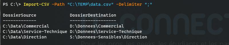 PowerShell - Exemple Import-CSV