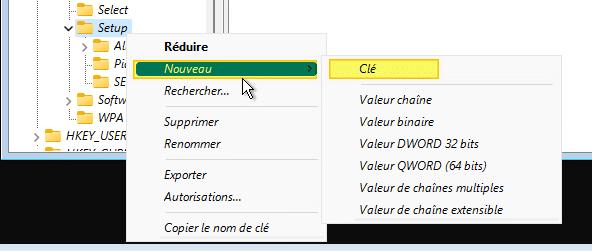 Installation de Windows 11 - Création de la clé LabConfig