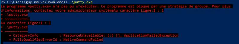Le blocage avec AppLocker