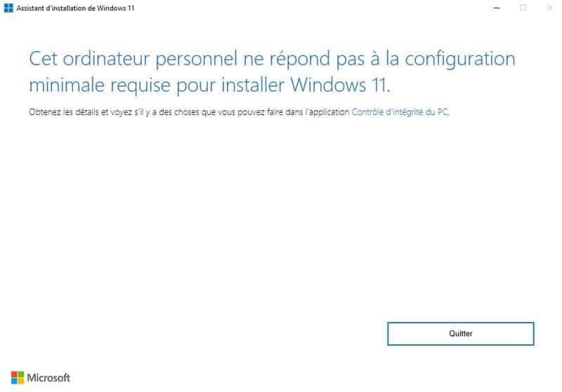 Mon PC Windows 10 n'est pas compatible Windows 11, que faire ?