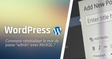 WordPress : comment réinitialiser le mot de passe admin via MySQL ?